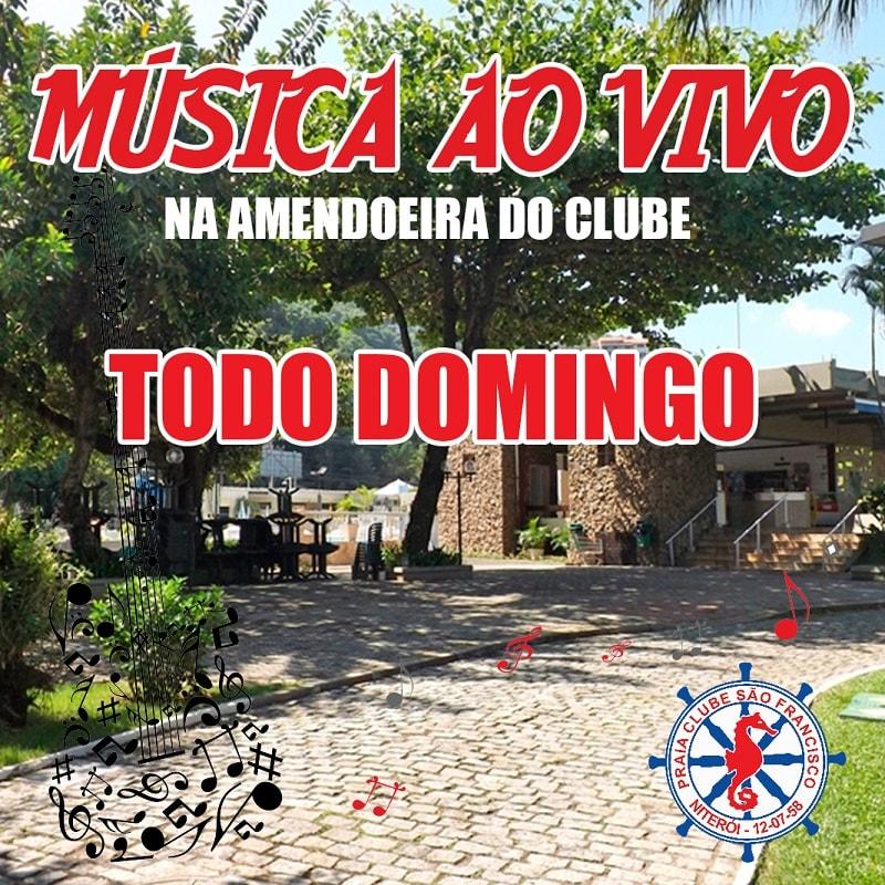Música ao vivo na Amendoeira Praia Clube São Francisco