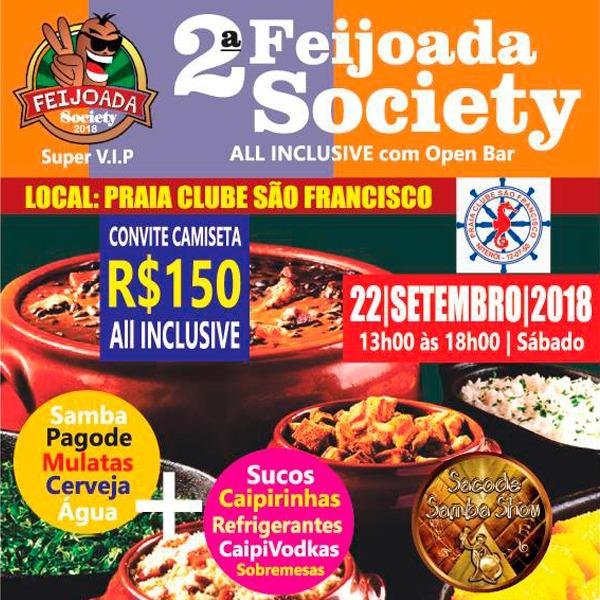 Feijoada Society Praia Clube São Francisco