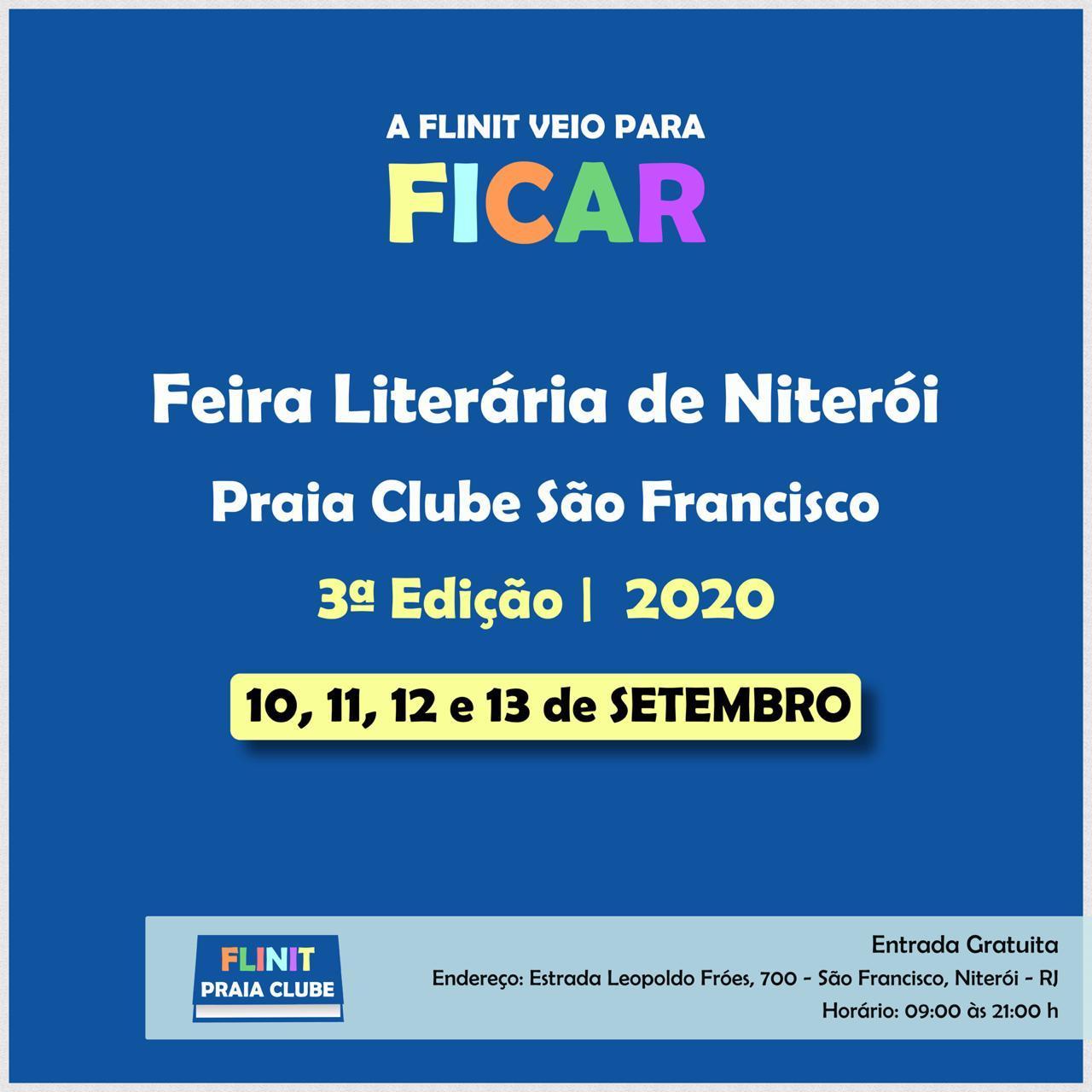 Feira Literária de Niterói Praia Clube São Francisco