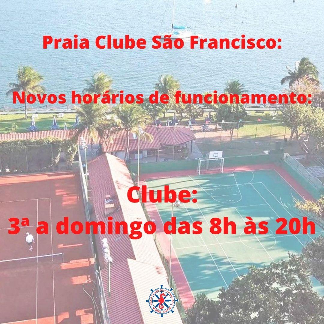 Praia Clube São Francisco_ Novos horários de funcionamento